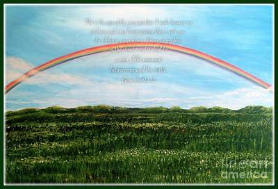 A Bow Of Promise From God Poster by Kimberlee Baxter