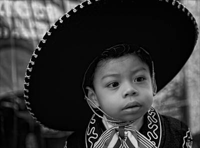 A Boy And His Sombrero Poster by Robert Ullmann