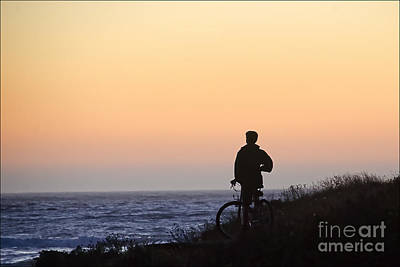 A Boy His Bike And The Beach Poster