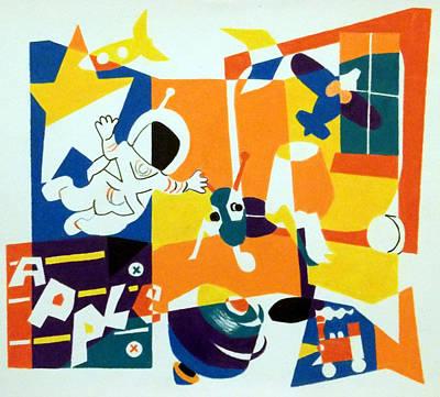 A Boys' Room Poster by Stephen Davis