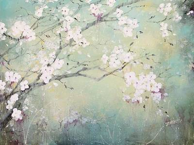 Poster featuring the painting A Breath Of Spring by Laura Lee Zanghetti