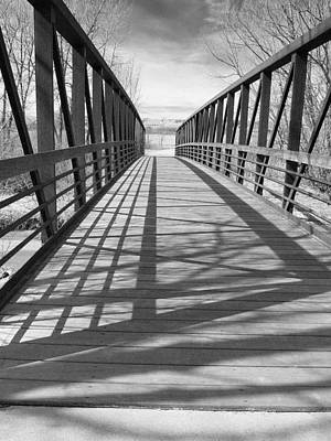 Poster featuring the photograph A Bridge Too Far by Irma BACKELANT GALLERIES