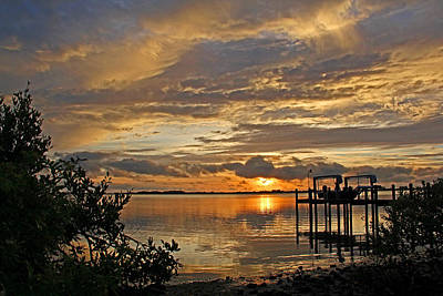 Poster featuring the photograph A Brooding Sunset Sky by HH Photography of Florida