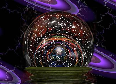 A Bubble Snow Globe Poster by Mario Carini