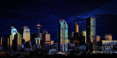Poster featuring the photograph A Calgary Sunrise by Brad Allen Fine Art