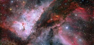 Poster featuring the photograph A Carina Nebula Pano by Nasa