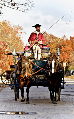 Autumn Colonial Carriage  Poster by Rachel Morrison