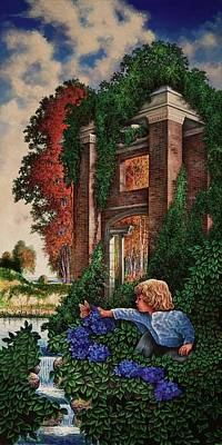 Poster featuring the painting A Child's Wonder by Michael Frank