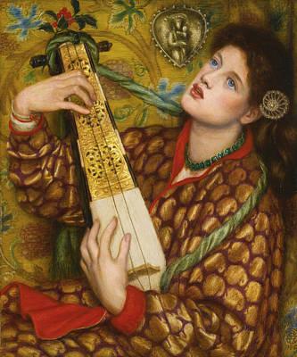 A Christmas Carol Poster by Dante Gabriel Rossetti