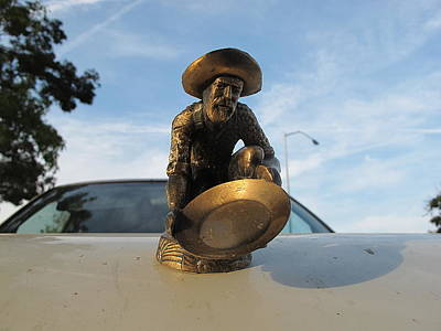 Poster featuring the photograph A Classic Hood Ornament Pickup Truck by John King