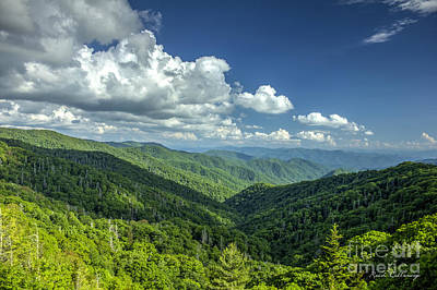 A Clear Day Great Smoky Mountains Blue Ridge Parkway Poster by Reid Callaway