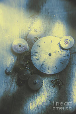 A Clockwork Blue Poster by Jorgo Photography - Wall Art Gallery