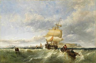 A Coastal Scene With Shipping Poster by Edwin Hayes