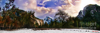 A Cold Yosemite Half Dome Morning Poster