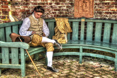 A Colonial Gentleman At Rest Poster by Robert Nelson