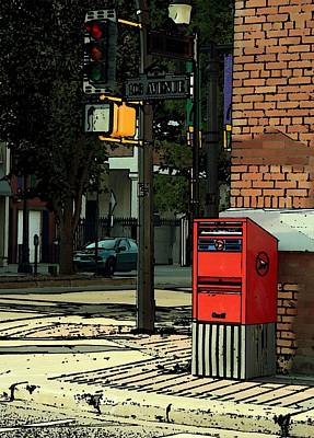 A Corner In Edmonton Poster by Mario Brenes Simon