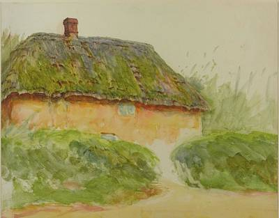 A Cottage By Two Hedges Poster by MotionAge Designs