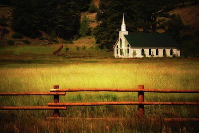 A Country Church In Colorado Poster by John De Bord