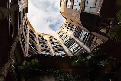 A Courtyard Shaped Like A Hug - Antoni Gaudi La Pedrera Or Casa Mila In Barcelona Spain Poster