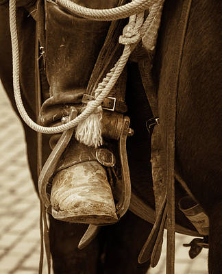 Poster featuring the photograph A Cowboy's Boot by Jeanne May