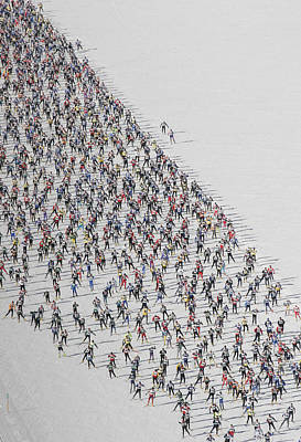 A Cross Country Ski Marathon Poster by Melissa Farlow