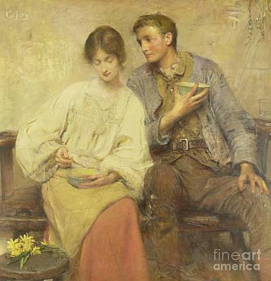 A Dinner Of Herbs  Poster by George William Joy