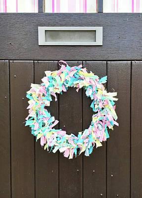 A Door Wreath Poster by Tom Gowanlock