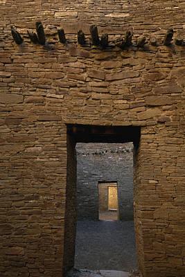 A Doorway And Walls Inside Pueblo Poster by Bill Hatcher