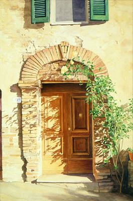 A Doorway In Tuscany Poster