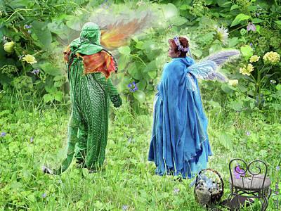 A Dragon Confides In A Fairy Poster