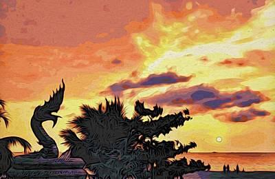 Dragon From Karon Beach Poster