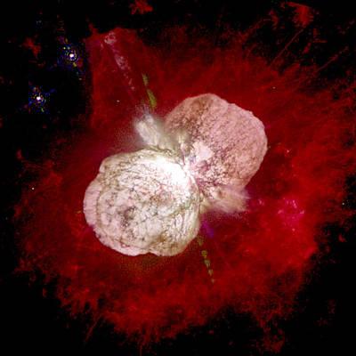 A Dying Star, Eta Carinae, Spews Gas Poster by Nasa