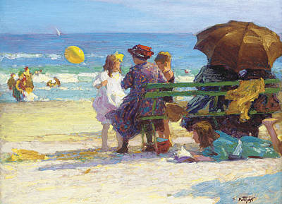 A Family Outing Poster by Edward Henry Potthast