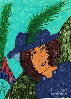 A Feather In Her Hat Poster by Elinor Rakowski