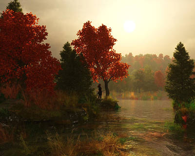 A Fine Autumn Morning Poster by Melissa Krauss