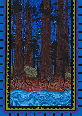 Poster featuring the painting A Forest Whispers by Chholing Taha