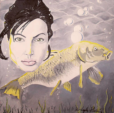 A Fish Named Angelina Poster by Joseph Palotas