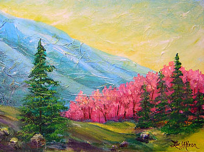 A Florid View Of The Blue Ridge Poster by Lee Nixon