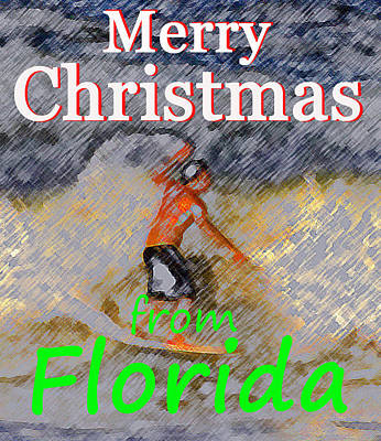 A Florida Christmas Poster by David Lee Thompson
