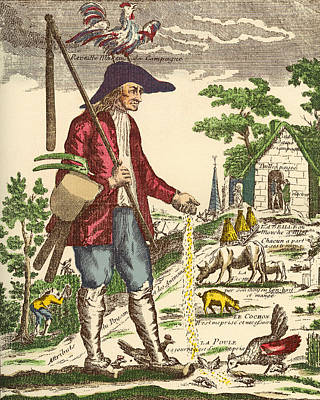 A French Village Peasant During The Poster
