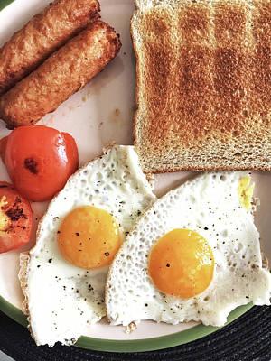 A Fried Breakfast Poster by Tom Gowanlock