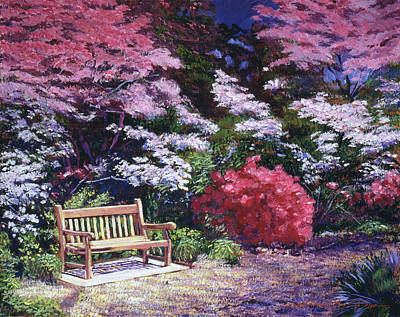 A Garden Place Poster by David Lloyd Glover