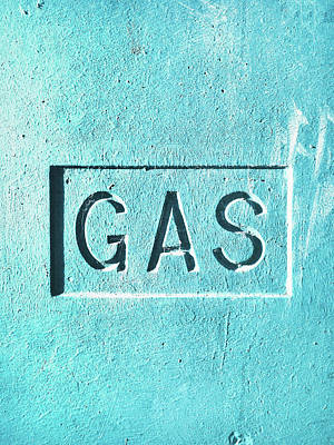 A Gas Sign Poster by Tom Gowanlock