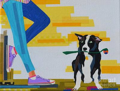 A Girl, A Dog, And A Toy Poster