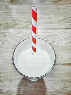 A Glass Of Milkshake Poster by Tom Gowanlock