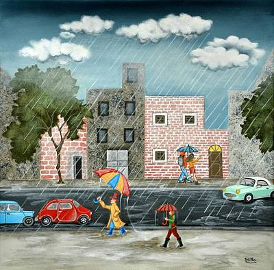 A Great Rainy Day Poster by Graciela Bello