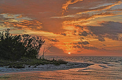 A Gulf Coast Sunset Poster by HH Photography of Florida