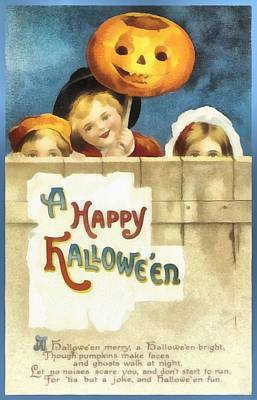 A Happy Halloween Pumpkin Poster by Unknown