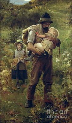 A Heavy Burden Poster by Arthur Hacker