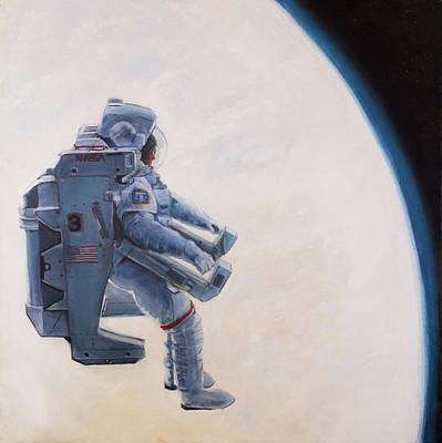 A Heck Of A Big Leap Poster by Simon Kregar